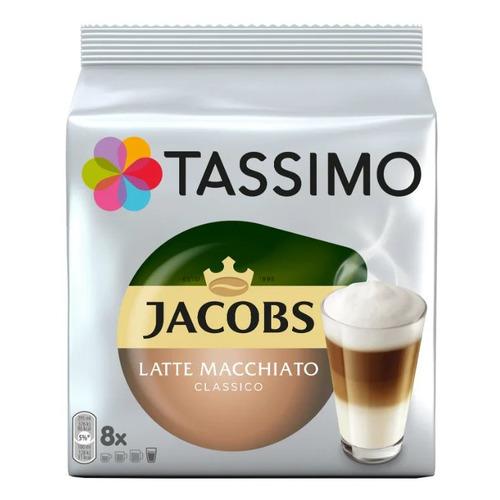 цена Кофе капсульный TASSIMO Jacobs Латте Макиато, капсулы, совместимые с кофемашинами TASSIMO®, 264грамм [8052282] онлайн в 2017 году