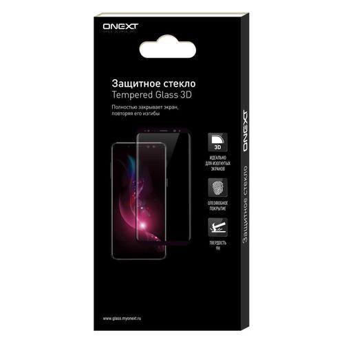 Защитное стекло для экрана ONEXT для Huawei Y7 (2019), 3D, 1 шт, черный [42057] цена и фото