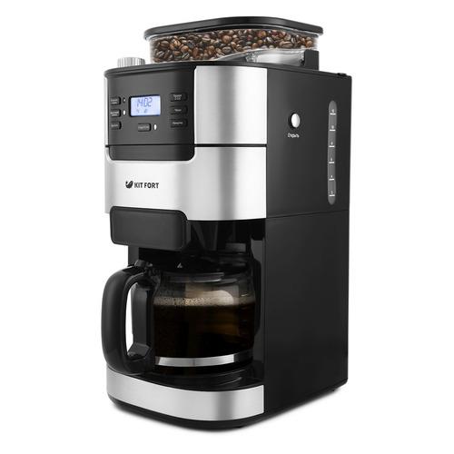 Кофеварка KITFORT КТ-720, капельная, черный / серебристый