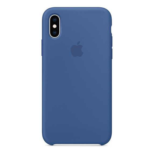 Чехол (клип-кейс) APPLE Silicone Case, для Apple iPhone XS, синий [mvf12zm/a] цена