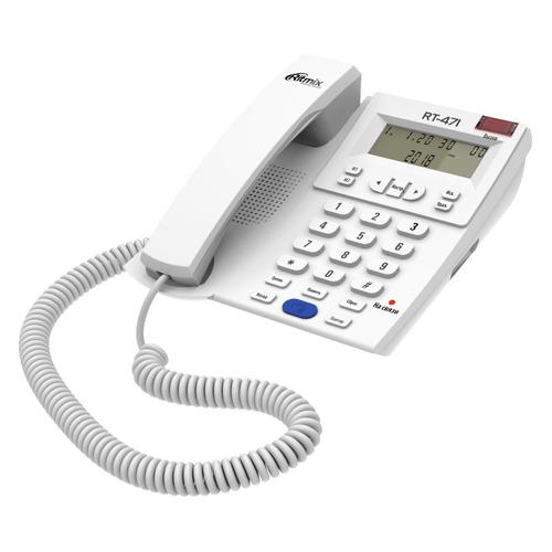 Проводной телефон RITMIX RT-471, белый проводной телефон ritmix rt 330 белый
