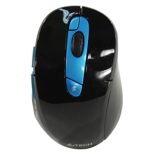 лучшая цена Мышь A4 G11-570FX, оптическая, беспроводная, USB, черный и синий [g11-570fx (black+ blue )]