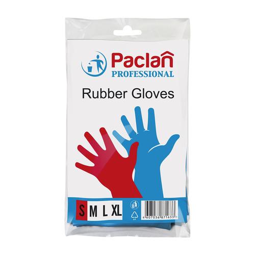 Перчатки PACLAN многоразовые, размер: S, латекс, 1 пара [407847]