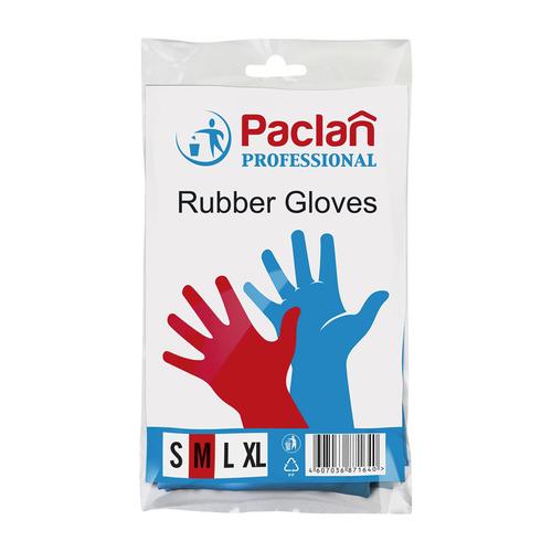 Перчатки PACLAN многоразовые, размер: M, латекс, 1 пара [407848]