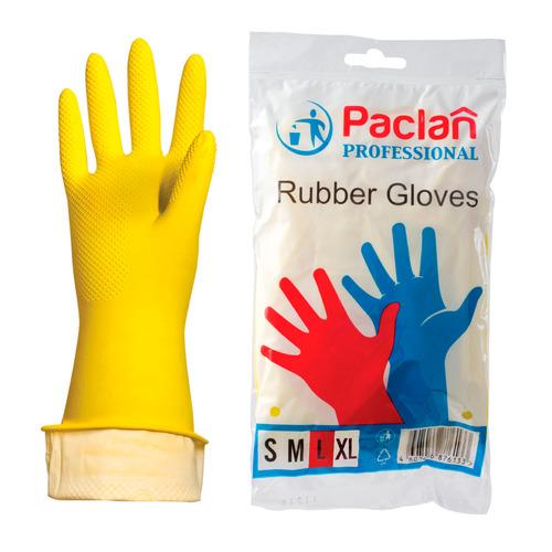 Перчатки PACLAN многоразовые, размер: L, латекс, 1 пара [407849]
