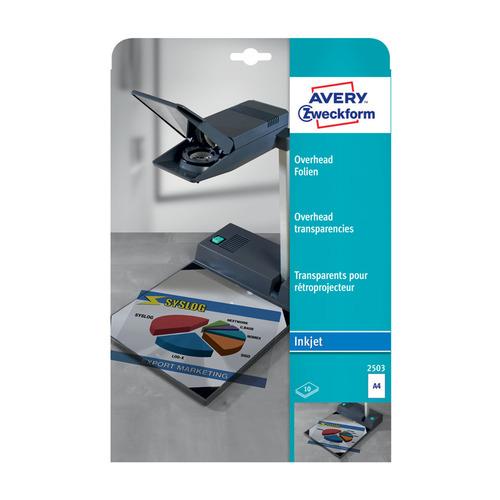 Пленка Avery Zweckform 2503 A4/10л./прозрачный для струйной печати