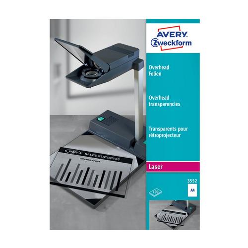 Пленка Avery Zweckform 3552 A4/100л./прозрачный для лазерной печати