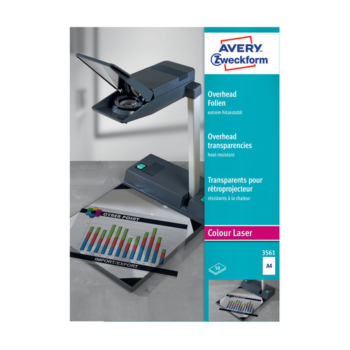 Пленка Avery Zweckform 3561 A4/50л./прозрачный для лазерной печати