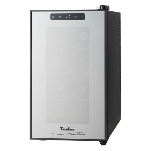 Винный шкаф TESLER WCV-080, однокамерный, черный винный шкаф tesler wch 080
