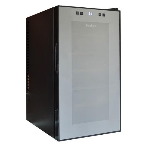 Винный шкаф TESLER WCV-180, однокамерный, черный винный шкаф tesler wch 080