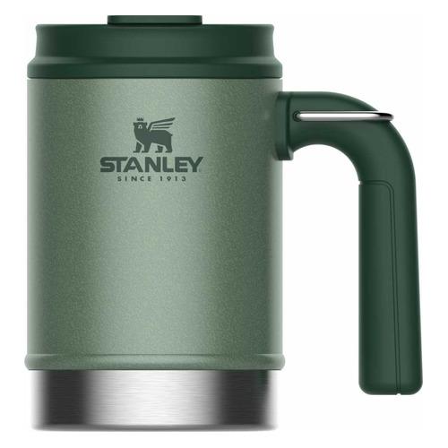Термокружка STANLEY The Big Grip Camp Mug, 0.47л, зеленый термокружка stanley go ceramivac 0 7l vacuum mug shale светло серый