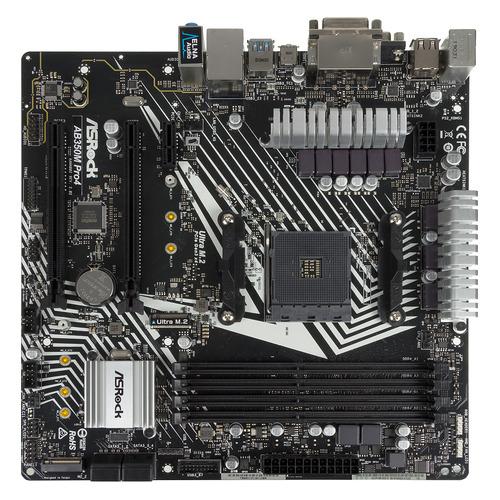 цена Материнская плата ASROCK AB350M PRO4 R2.0, SocketAM4, AMD B350, mATX, Ret