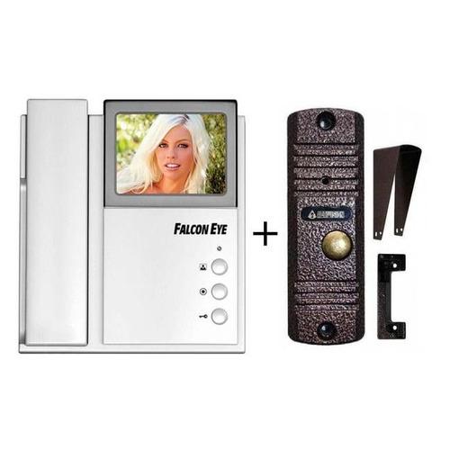 Видеодомофон FALCON EYE FE-4CHP2 + AVC-305, ассорти видеодомофон falcon eye fe 4chp2 avp 505 ассорти