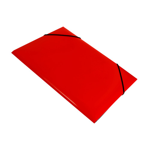 Папка на резинке Бюрократ DeLuxe DL510RED A4 пластик кор.30мм 0.7мм красный 10 шт./кор. папка на резинке бюрократ crystal cr510 a4 пластик кор 30мм 0 5мм ассорти 60 шт кор