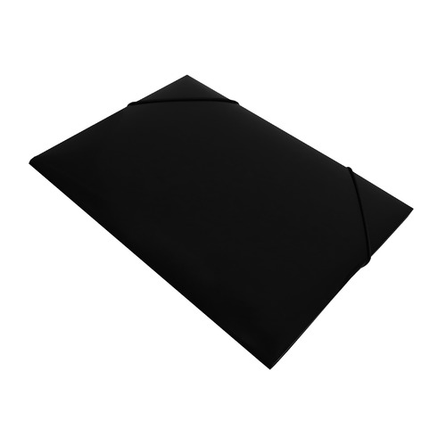 Папка на резинке Бюрократ DeLuxe DL510BLCK A4 пластик кор.30мм 0.7мм черный 10 шт./кор. папка на резинке бюрократ crystal cr510 a4 пластик кор 30мм 0 5мм ассорти 60 шт кор