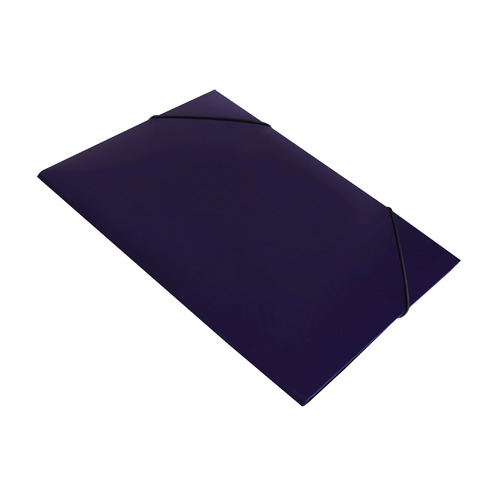 Папка на резинке Бюрократ DeLuxe DL510BBERRY A4 пластик кор.30мм 0.7мм черничный 10 шт./кор. папка на резинке бюрократ crystal cr510 a4 пластик кор 30мм 0 5мм ассорти 60 шт кор