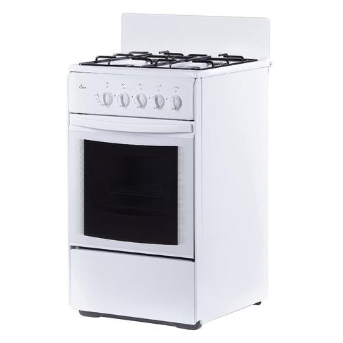 цена Газовая плита FLAMA RG 24035 W, газовая духовка, без крышки, белый