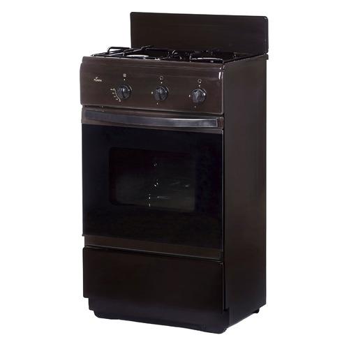 Газовая плита FLAMA CG 32010 B, газовая духовка, без крышки, коричневый bello 7610 b