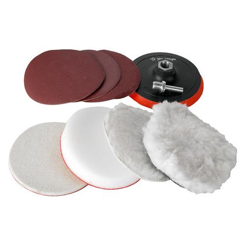 Набор кругов ЗУБР 3591-125-H7, универсальный, 125мм, 7шт насадки полировальные зубр эксперт 3591 180 h7