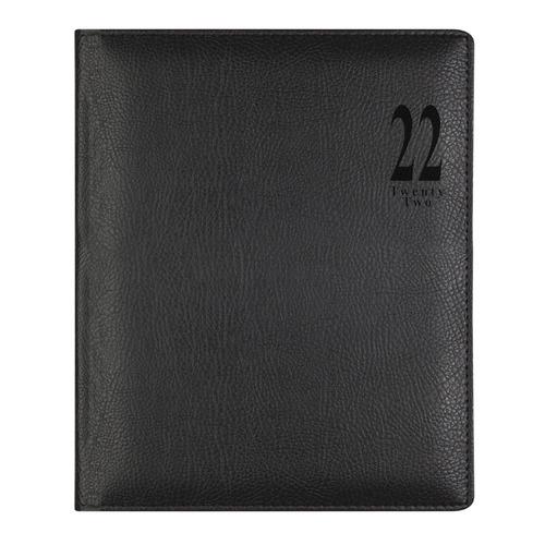 Еженедельник LETTS Milano, A4, белые страницы, кожа искусственная, черный [81391] цена