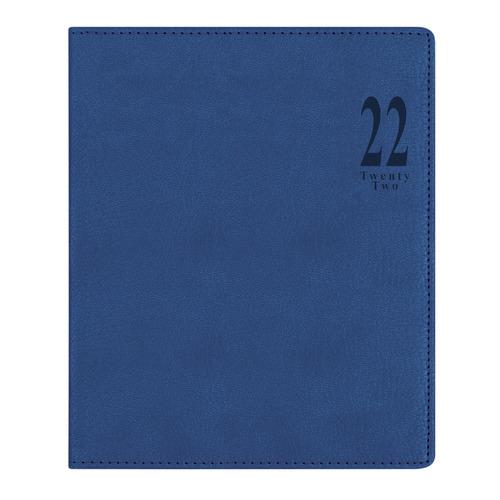 Еженедельник LETTS Milano, A4, белые страницы, кожа искусственная, синий [81392] цена