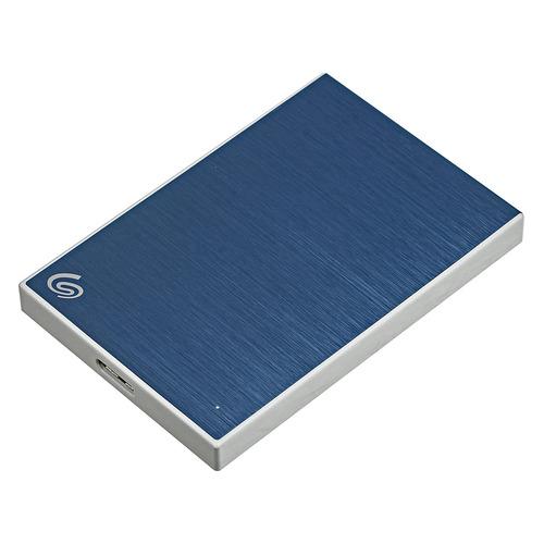 Фото - Внешний жесткий диск SEAGATE Backup Plus Slim STHN1000402, 1Тб, синий накопитель на жестком магнитном диске seagate внешний твердотельный накопитель seagate one touch ssd stje1000402 1тб 2 5 usb 3 0 white
