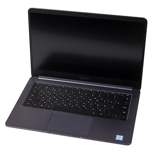 Ноутбук HONOR MagicBook 14 VLT-W50, 14, IPS, Intel Core i5 8250U 1.6ГГц, 8Гб, 256Гб SSD, nVidia GeForce Mx150 - 2048 Мб, Windows 10, 53010GLL, серый космос ноутбук lenovo ideapad 530s 15ikb 81ev003xru i5 8250u 8g 256g ssd 15 6fhd ips mx150 2g bt win10 blue