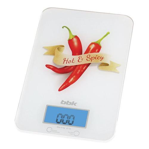 Весы кухонные BBK KS106G, белый/специи кухонные весы bbk ks102g blue