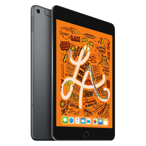 Фото - Планшет APPLE iPad mini 2019 64Gb Wi-Fi + Cellular MUX52RU/A, 2GB, 64GB, 3G, 4G, iOS темно-серый планшет apple ipad mini 2019 256gb wi fi muu32ru a 2gb 256гб ios темно серый