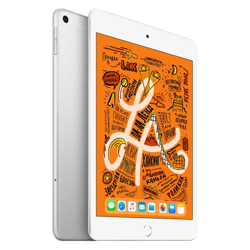 Планшет APPLE iPad mini 2019 64Gb Wi-Fi + Cellular MUX62RU/A, 2GB, 64GB, 3G, 4G, iOS серебристый стоимость