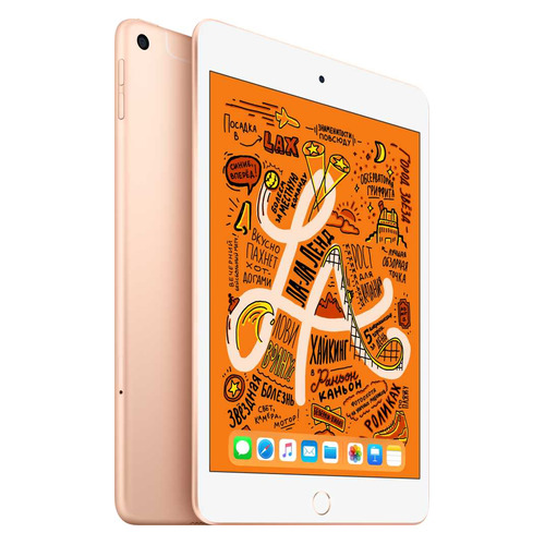 Планшет APPLE iPad mini 2019 64Gb Wi-Fi + Cellular MUX72RU/A, 2GB, 64GB, 3G, 4G, iOS золотистый стоимость