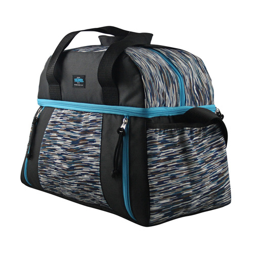 Сумка-термос Thermos Studio Fitness duffle bag черный/голубой (538710)