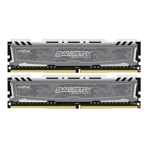 Модуль памяти CRUCIAL Ballistix Sport LT BLS2K4G4D26BFSB DDR4 - 2x 4Гб 2666, DIMM, Ret модуль памяти crucial ballistix sport bls2c4g4d240fsa ddr4 2x 4гб 2400 dimm ret