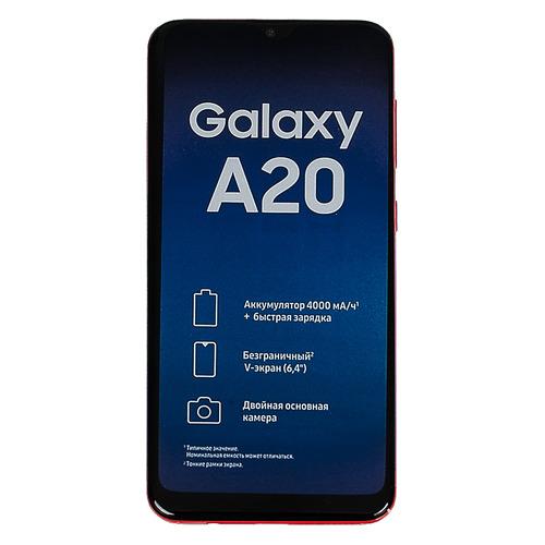 Смартфон SAMSUNG Galaxy A20 32Gb, SM-A205F, красный SM-A205FZRVSER