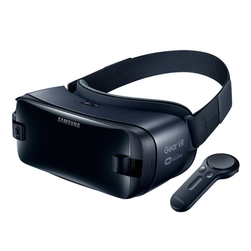 Очки виртуальной реальности SAMSUNG Galaxy Gear VR SM-R325, темно-синий [sm-r325nzvdser] цена