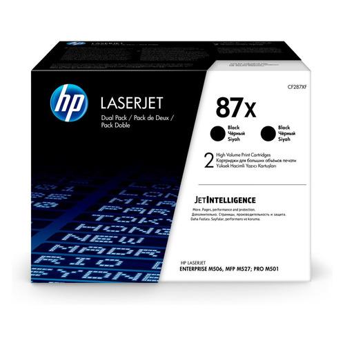 Картридж (двойная упаковка) HP 87X, черный [cf287xd] картридж hp 87x черный black 2x18000 стр для hp laserjet m501 m506 m527