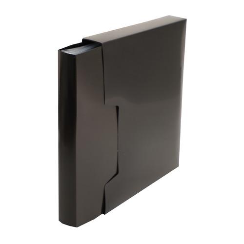 Папка с 100 прозр.вклад. Бюрократ DeLuxe DLVBOX100BLCK A4 пластик 0.7мм черный в коробе 14 шт./кор. игрушка деревянная буратино каталка ежик в русс кор в кор 100шт