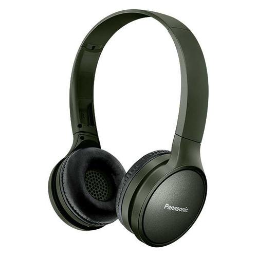 Наушники с микрофоном PANASONIC RP-HF410BG, Bluetooth, накладные, зеленый [rp-hf410bgcg] цена 2017