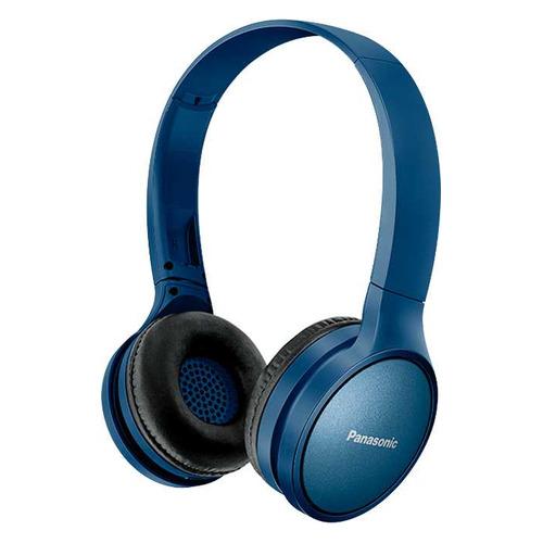 цена на Наушники с микрофоном PANASONIC RP-HF410BG, Bluetooth, накладные, синий [rp-hf410bgca]