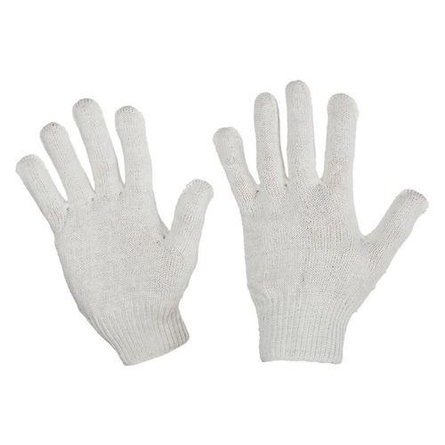 Перчатки многоразовые, размер: универсальный, х/б, 10 пар, цвет белый