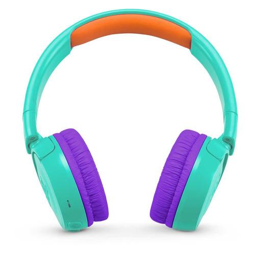 Наушники JBL JR300 BT, Bluetooth, накладные, бирюзовый [jbljr300bttel] jbl jr300 blue наушники