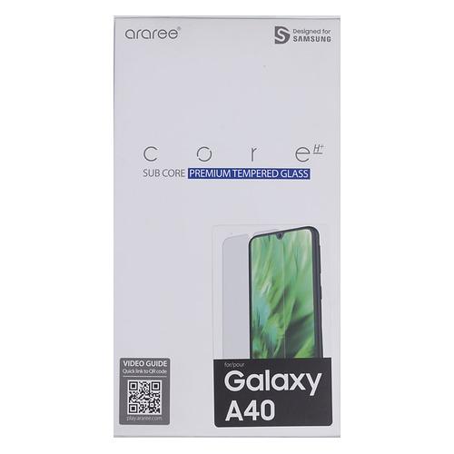 цена на Защитное стекло для экрана SAMSUNG araree by KDLAB для Samsung Galaxy A40, прозрачная, 1 шт [gp-tta405kdatr]