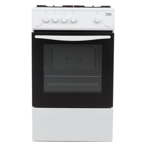 Газовая плита Beko FFSG42012W, газовая духовка, белый газовая плита beko ffsg42012w газовая духовка белый