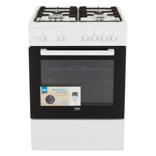 Газовая плита BEKO FFSS62010GW, электрическая духовка, белый цена 2017