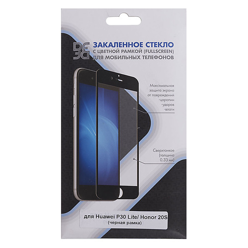 Защитное стекло для экрана DF hwColor-97 для Huawei P30 Lite, 1 шт, черный [df hwcolor-97 (black)] DF HWCOLOR-97 (BLACK)
