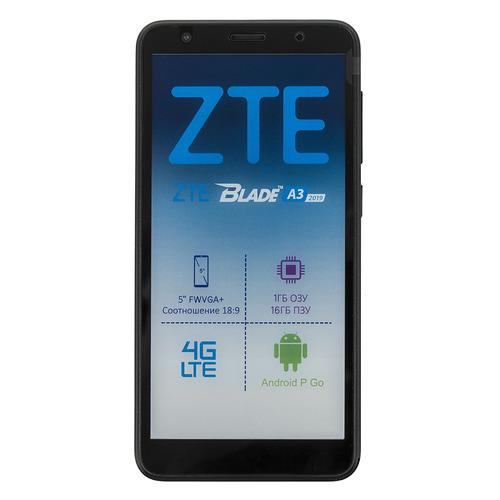 Смартфон ZTE Blade A3 16Gb, черный смартфон zte blade a3 черный 5 16 гб lte wi fi gps 3g bluetooth