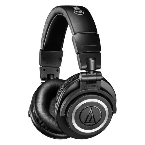 Гарнитура AUDIO-TECHNICA ATH-M50XBT, 3.5 мм/Bluetooth, мониторные, черный матовый [80000077]