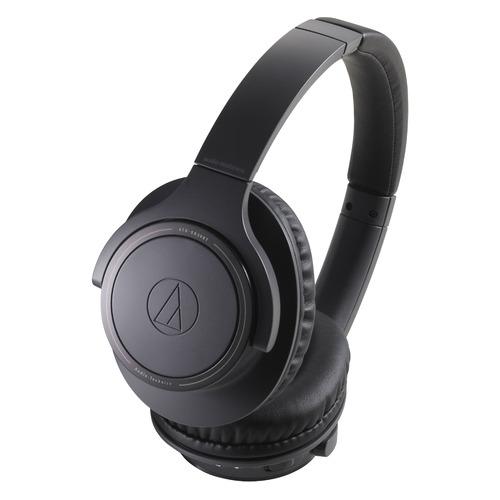 Наушники AUDIO-TECHNICA ATH-SR30BTBK, Bluetooth/USB, накладные, черный [80000227] наушники audio technica ath ws550is brd 3 5 мм накладные черный красный [10102360]