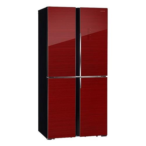 Холодильник HIBERG RFQ-490DX NFGR, трехкамерный, красное стекло холодильник hiberg rfc 311dx nfgr двухкамерный красное стекло