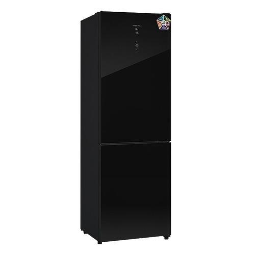 Холодильник HIBERG RFC-311DX NFGB, двухкамерный, черное стекло